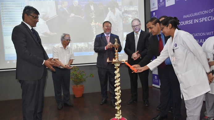 Speciality Nursing Course, CARE Hospitals, Global Health Alliance, UK, Andrew Currie, St. Georges University of London & Hospital, London Institute of Health Sciences, London, Heart Foundation, Dr Andrew Fleming, British Deputy High Commissioner, Teleangana, Andhra Pradesh