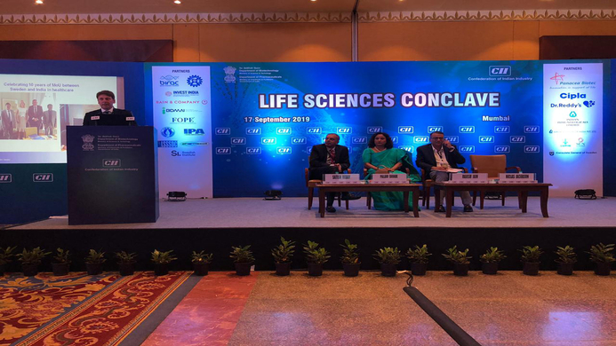 Life Science, Swedish, Swedish life sciences, MoU, Ministry of Health and Social Affairs, The Lalit Hotel, Niclas Jacobson, Anna Lekvall, International Affairs, Joint Working Group, Rajasthan, Delhi