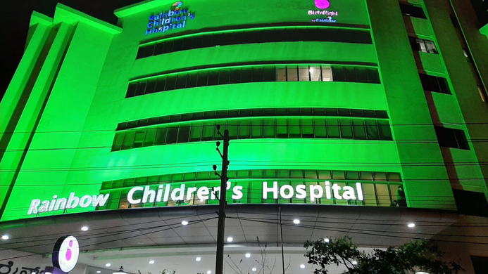Rainbow Children's Hospital, World cerebral palsy day, Cerebral palsy, Green ribbon, Cerebral Palsy awareness, Green lights., Neeraj Lal