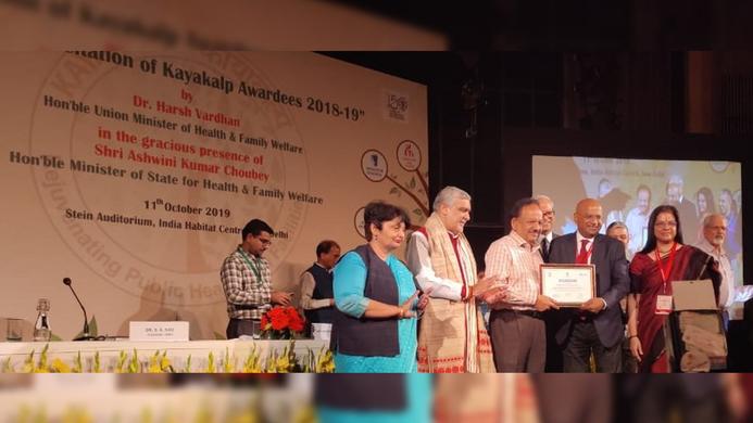 Kayakalp Awards, Medica Hospital, GoI, Quality of Care, Harsh Vardhan, Alok Roy, Government of India, Union Ministry of Health and Family Welfare, Medica Superspecialty Hospital, Delhi, Mahatma Gandhi, Healthcare