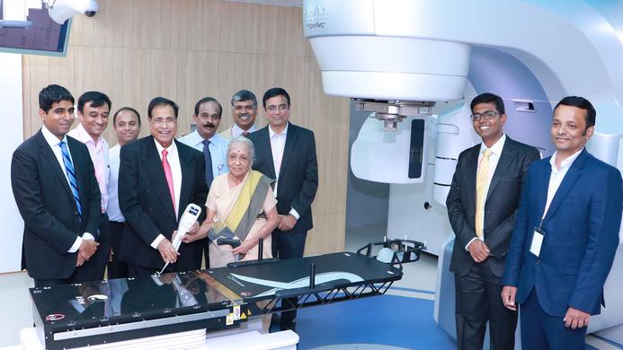 KMCH, True Beam HyperArc facility, Kovai Medical center, V Shanta, HyperArc, Shanta, HyperArc True Beam, Comprehensive Cancer Centre, Nalla G Palaniswami, Breast Cancer awareness