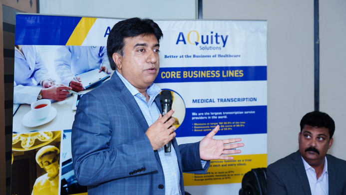 Aquity Solutions, HR capital, Aquity Solutions, Medical Coding, Virtual Scribing, Medical Transcription business, MModal, US healthcare marketplace, Global infrastructure, Kashyap Joshi, Agnelo Rodrigues, Digital India, Skill India