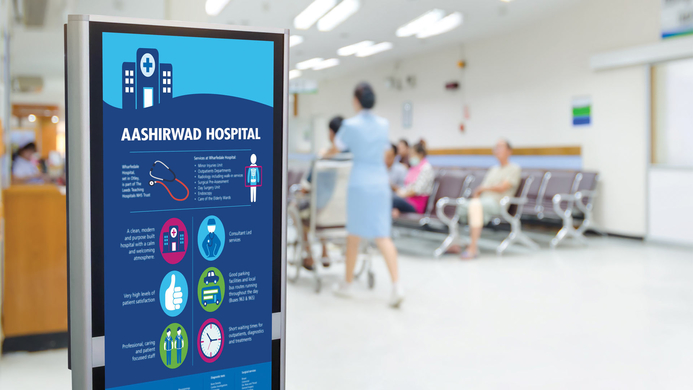 Digital walls, Engaging experience, Engaging experience for patients, Digital  healthcare, Healthcare, Kunal Bhattacharya, Digital signage, AI, AI technologies, RJB Architects