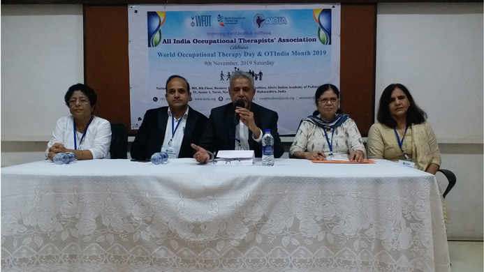 Occupational Therapy, AIOTA, Anil K Srivastava, Anil Srivastava, National Health Policy, Rural Health programme, Clinical Establishment Act, National Education Policy, GS Medical College, KEM Hospital, OT colleges