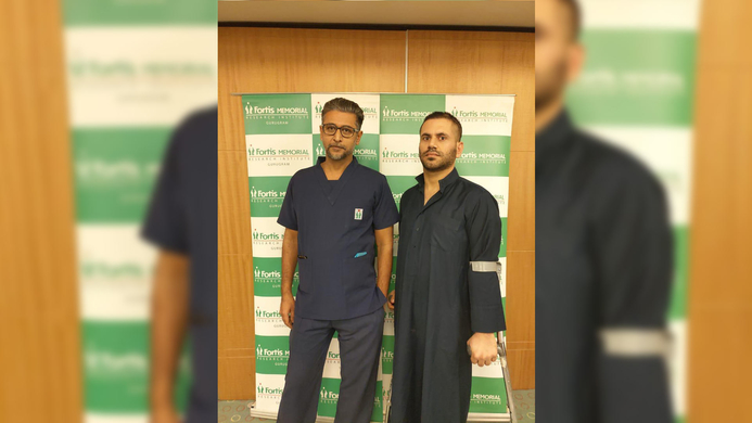 Iraqi patient, Neurological condition, Fortis Gurgaon, Rare genetic disorder, Dystonia, Fortis Memorial Research Institute, FMRI, Deep Brain Stimulation, DBS, Bilateral Globus Pellidus Internus, GPI, Sandeep Vaishya, Saad Harbi Haid Al-Karawi