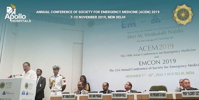 Apollo Hospitals Group, Asian Society for Emergency Medicine, Annual Conference of Society for Emergency Medicine, Emergency Medicine India, Dr K Hari Prasad