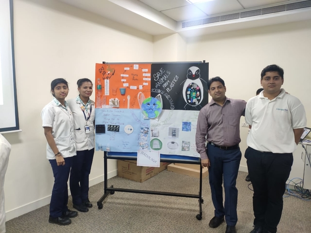 Columbia, Columbia Asia Referral Hospital Yeshwanthpur, Plastic free hospital, Pharmacy, Ananth Rao, General Manager Columbia, Wooden ID cards, ESR pipettes, Recycling vacutainer tube, Napkins made of banana fiber, Steel cups