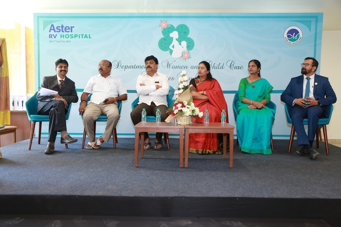 Aster RV, Aster RV Hospital, OBG-Paediatric department, World class facilities, Gynaecology Paediatric  department, KN Harsha, Sunil Eshwar, Clinical expertise, Radiologists, Neo natal Intensive Care, Vaginal birth, Caesarean, Neo-Natal care, Gynaecology-Paediatric