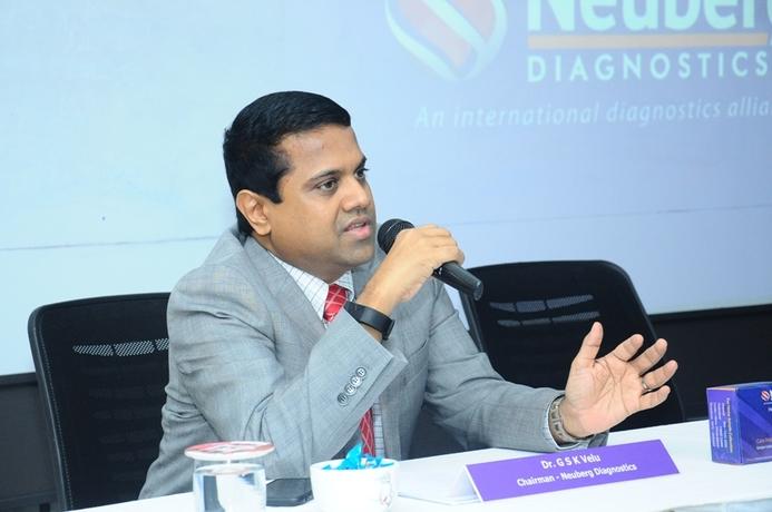 Dr. G.S.K.Velu - Chairman & MD, Neuberg Diagnostics Pvt.Ltd