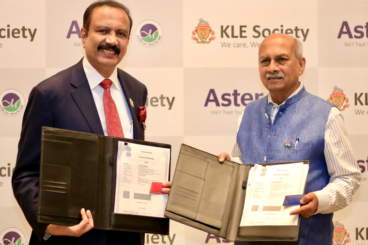 Aster DM Healthcare to run and operate its 4th Hospital in Bengaluru in partnership with KLES