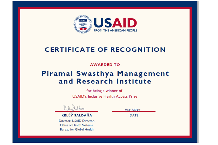 Piramal Swasthya Recognized with 'Inclusive Health Access Award' for its High Impact Healthcare Platform