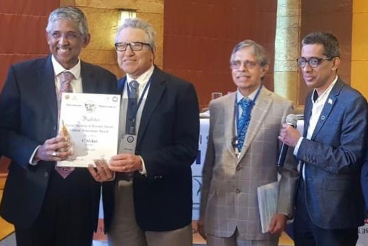 Indian Academy of Diabetes honours Dr V Mohan and Dr RM Anjana