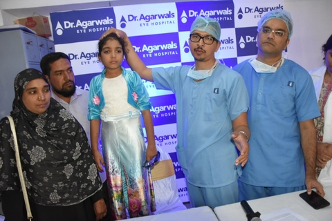 Dr Agarwal's Eye Hospital conducts breakthrough surgery on girl suffering from paralysed eye nerve